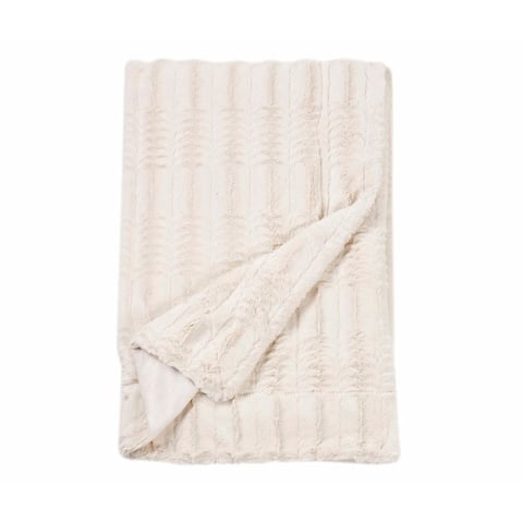 Copper Grove Pontica Luxe Embossed Faux Fur Throw