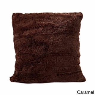 Luxe Faux-Fur 17-inch Throw Pillow