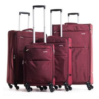"CalPak ""Topanga"" 4-piece Expandable Softside Spinner Luggage Set"