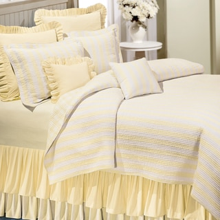 Amanda Yellow Cotton Quilt (Shams Not Included)