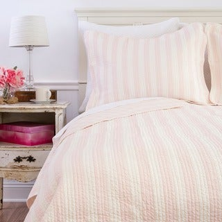 Amanda Pink Cotton Reversible Quilt (Shams Not Included)