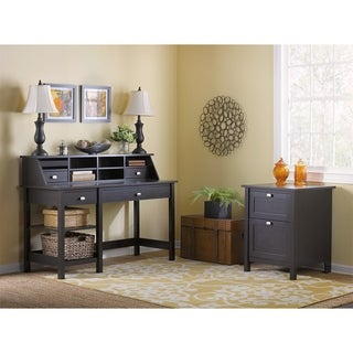 Bush Furniture Broadview Open Storage Desk and Pedestal (2-piece Set)