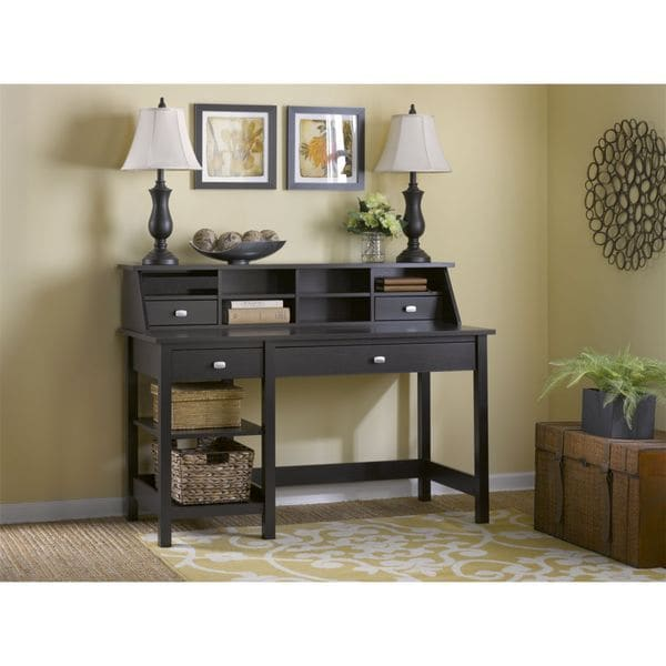 Broadview Computer Desk With Open Storage And Desktop Organizer Free Shipping Today