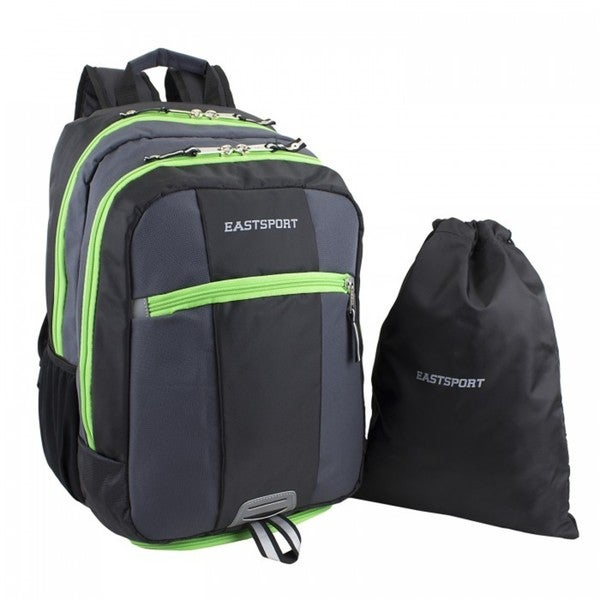 Eastsport Ultimate Sport 15-inch Laptop Backpack + Bonus Drawstring Bag