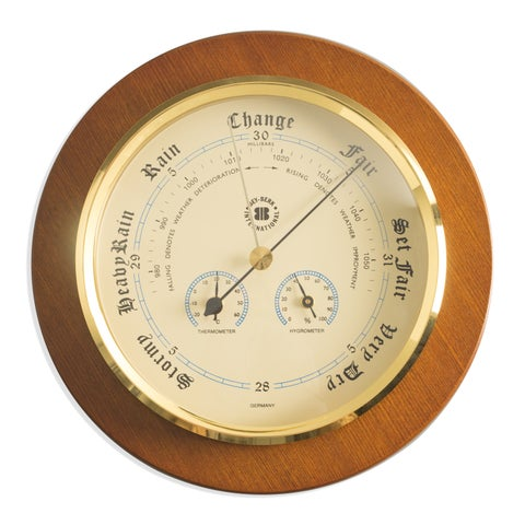 Bey Berk Barometer with Thermometer and Hygrometer