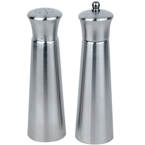 Straight Line Pyramid 2 pc Salt & Pepper Set
