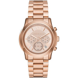 Michael Kors Women's MK6275 Cooper Chronograph Rose-Tone Dial Rose-Tone Gold Stainless Steel Bracelet Watch