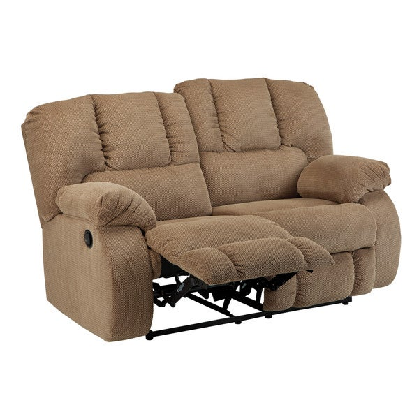 Signature Design By Ashley Roan Mocha Reclining Loveseat