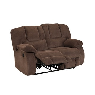 Signature Design by Ashley Roan Cocoa Reclining Loveseat