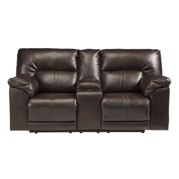 Ashley Furniture Recliners: Shop Signature Design By Ashley Barrettsville Durablend Chocolate Double Recliner Loveseat With