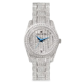 Croton Men's CN307543RHPV Stainless Steel Silvertone Austrian Crystal Watch