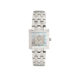 Croton Women's CN207407SSDI Stainless Steel Silvertone Diamond case Watch