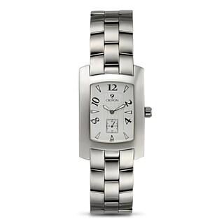 Croton Men's CN307186SSSL Stainless Steel Silvertone Rectangular Watch