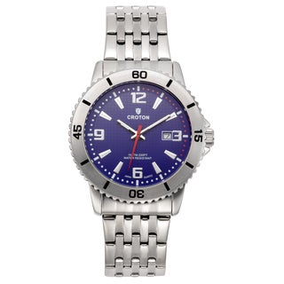 Croton Men's CA301288SSBL Stainless Steel Blue Rotating Bezel Watch