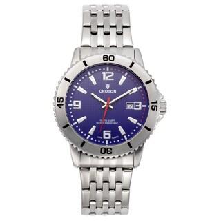 Croton Men's CA301288SSBL Stainless Steel Blue Rotating Bezel Watch