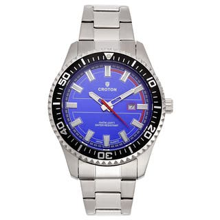 Croton Men's CA301289SSBL Stainless Steel Silvertone Luminous Hands Watch|https://ak1.ostkcdn.com/images/products/10685888/P17748910.jpg?impolicy=medium