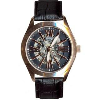 Croton Men's CI331082RGIV Stainless Steel Rosetone Skeleton Automatic Watch