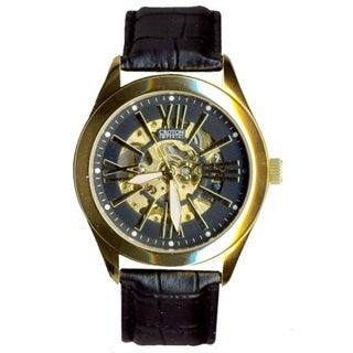Croton Men's CI331082YLBK Stainless Steel Goldtone Skeleton Automatic Watch