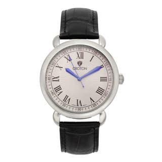 Croton Men's CN307532BSSL Stainless Steel Silvertone Leather Strap Watch|https://ak1.ostkcdn.com/images/products/10685998/P17748921.jpg?impolicy=medium