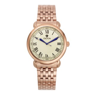 Croton Men's CN307532RGIV Stainless Steel Rosetone Ivory Dial Watch
