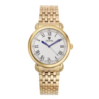 Croton Men's CN307532YLDW Stainless Steel Goldtone White Dial Watch