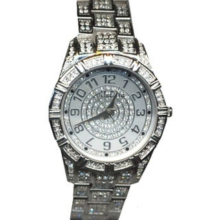 Croton Women's CN307545RHMP Stainless Steel Silvertone Crystal Watch