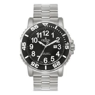 Croton Men's CA301280BKBK Stainless Steel Silvertone Rotating Bezel Watch|https://ak1.ostkcdn.com/images/products/10686118/P17748930.jpg?impolicy=medium