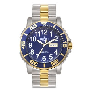 Croton Men's CA301281TTBL Stainless Steel Two-tone Luminous Hands Watch
