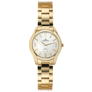 Croton Women's CN207501YLSL Stainless Steel Goldtone Patterned dial Watch