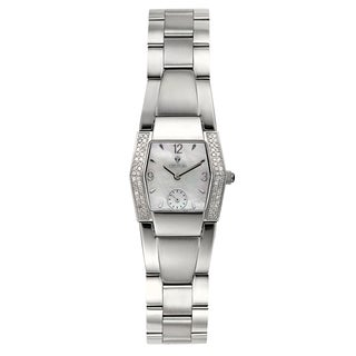 Croton Women's CR207271SSDI Stainless Steel Silvertone Mother of Pearl Watch