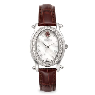 Croton Women's CN207537BUMP Stainless Steel January BirthstoneMother of Pearl Watch