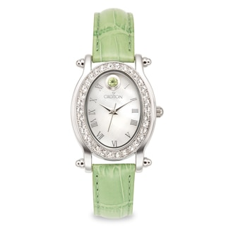 Croton Women's CN207537GNMP Stainless Steel August BirthstoneMother of Pearl Watch