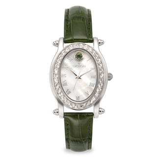 Croton Women's CN207537GRMP Stainless Steel May BirthstoneMother of Pearl Watch