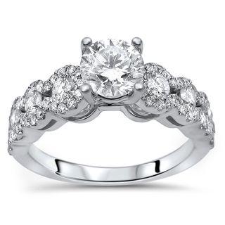 Noori 18k Gold 1ct TDW Clarity-enhanced Round Diamond Engagement Ring - White G-H
