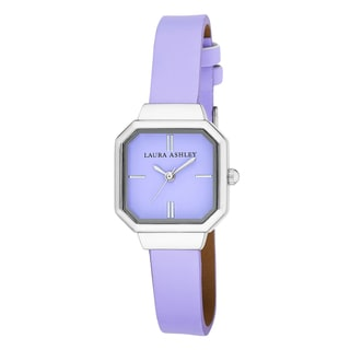 Laura Ashley Women's Petite Purple Sunray Dial Watch