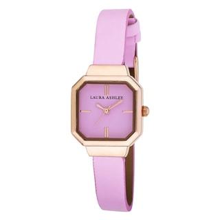 Laura Ashley Ladies Petite Pink Sunray Dial Watch