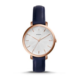 Fossil Women's ES3864 Incandesa White Dial Navy Leather Watch