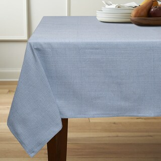 Classic Chambray Table Cloth with 4 Piece Napkins Options
