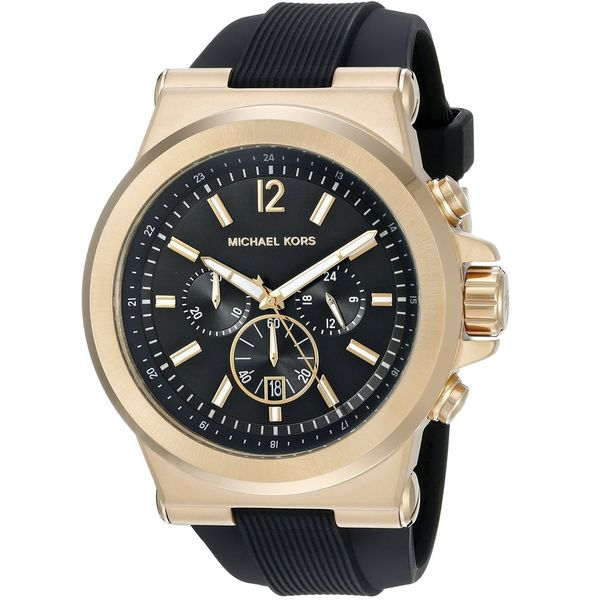 528ed8abef92 Shop Michael Kors Men s MK8445 Dylan Chronograph Black Dial Black Silicone  Watch - Free Shipping Today - Overstock - 10686766
