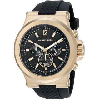 Michael Kors Men's MK8445 Dylan Chronograph Black Dial Black Silicone Watch