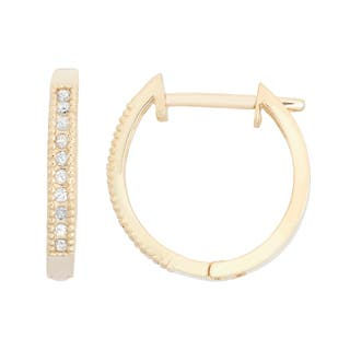 Gioelli 10k Gold .1ct TDW Diamond Round Cut Hoop Pave Earrings|https://ak1.ostkcdn.com/images/products/10686877/P17749738.jpg?impolicy=medium