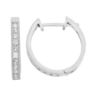 Gioelli 10k White Gold .44ct TDW Diamond Round-cut Channel-set Hoop Earrings|https://ak1.ostkcdn.com/images/products/10686883/P17749743.jpg?_ostk_perf_=percv&impolicy=medium