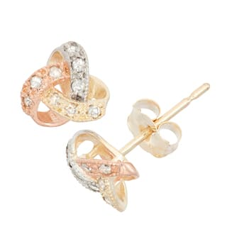 Gioelli 10k Gold .09ct TDW Diamond Round Cut Petite Love Knot Stud Earrings|https://ak1.ostkcdn.com/images/products/10687002/P17749752.jpg?impolicy=medium