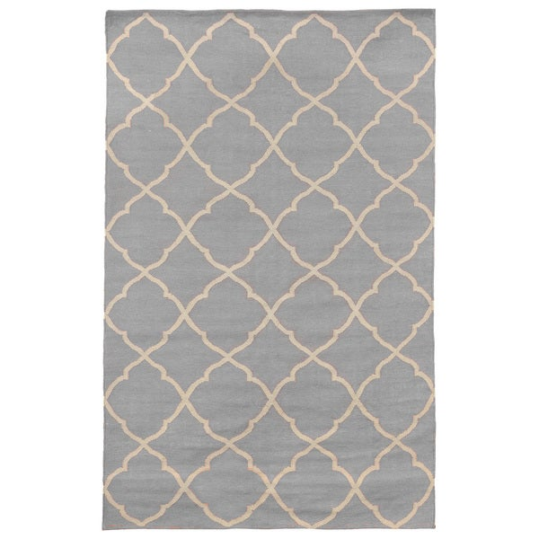 Kosas Home Grey Trace Trellis Indoor Outdoor Area Rug 8 X 10 Free Shipping Today 10687006