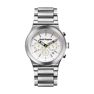 Hush Puppies Men's White Dial Stainless Steel Chronograph Watch HP.6057M.1501 https://ak1.ostkcdn.com/images/products/10690720/P17754589.jpg?impolicy=medium