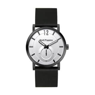 Hush Puppies Men's Silver Dial Black Genuine Leather Watch HP.3628M.2522 https://ak1.ostkcdn.com/images/products/10690850/P17754598.jpg?impolicy=medium