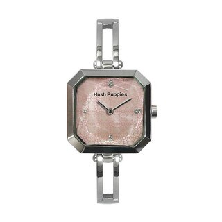 Hush Puppies Women's Crescendo Pink Dial Stainless Steel Watch