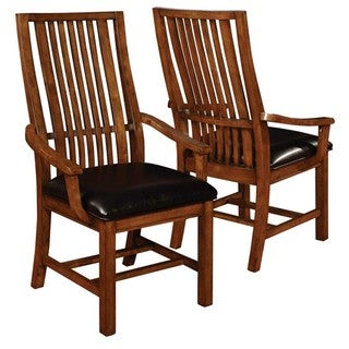Liberty Mission Style Distressed Arm Chairs (Set of 2)