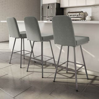 Amisco Spoon Swivel Metal Barstool