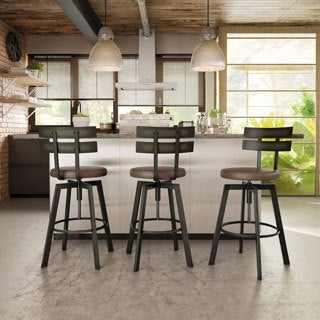 amisco knowlton screw metal stool - Amisco Bar Stools